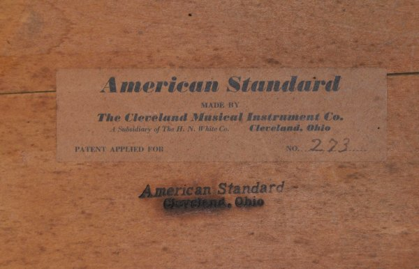 American Standard Bass Number 273 made in 1937