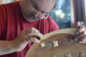 Careful rebuilding of edges on instrument aged approximately 210 years old